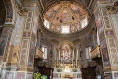 Kerk van San Marcello al Corso in Rome Royalty-vrije Stock Foto's