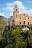 Kerk van San Pietro Caveoso Matera Basilicata Apulia Italië stock afbeeldingen