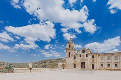 Kerk van San Pietro Caveoso in Sassi van Matera, Italië stock afbeelding