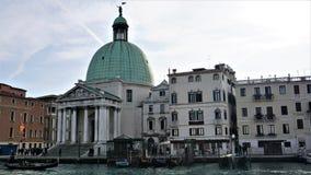 Kerk van San Simeone Piccolo, Venetië, Italië stock afbeelding