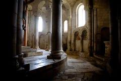 Kerk van Sant'Antimo, Toscaan Stock Foto