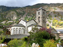 Kerk van Sant Esteve, Andorra Royalty-vrije Stock Fotografie