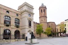 Kerk van Sant Felix van Sabadell, Barcelona provincie, Catalonië, Spanje royalty-vrije stock fotografie