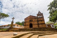 Kerk van Santa Barbara stock afbeeldingen