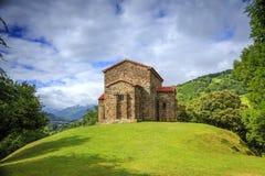 Kerk van Santa Cristina de Lena Oviedo stock foto's