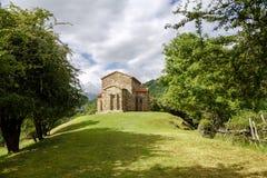Kerk van Santa Cristina de Lena Oviedo royalty-vrije stock afbeeldingen