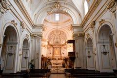 Kerk van Santa Maria Assunta Positano Italy Stock Foto