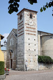 Kerk van Santa Maria Cisano Italy Stock Foto's