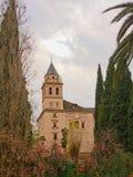 Kerk van Santa Maria de Alhambra, Granada, Spanje Royalty-vrije Stock Fotografie