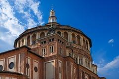 Kerk van Santa Maria delle Grazie - Milaan Italië stock foto