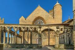 Kerk van Santa Maria la Real, Olite, Spanje royalty-vrije stock foto