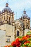 Kerk van Santo Domingo de Guzman in Oacaca - in Mexico royalty-vrije stock foto