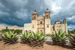 Kerk van Santo Domingo de Guzman in Oaxaca, Mexico royalty-vrije stock afbeelding