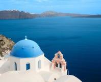 Kerk van Santorini, Griekenland Stock Fotografie