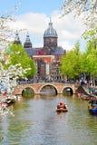 Kerk van Sinterklaas, Amsterdam stock afbeeldingen