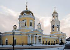 Kerk van Sinterklaas in Ekaterinburg, Rusland Zachte nadruk Royalty-vrije Stock Afbeelding