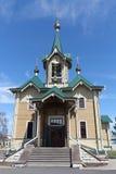 Kerk van Sinterklaas, het beginnen van 20ste eeuw, Rusland, Slyudyanka Stock Afbeelding