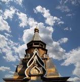 Kerk van Sinterklaas in Izmailovsky het Kremlin het Kremlin in Izmailovo, Moskou, Rusland stock foto