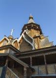 Kerk van Sinterklaas in Izmailovsky het Kremlin het Kremlin in Izmailovo, Moskou, Rusland stock foto's