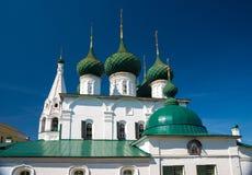 Kerk van Spasa-Na Gorodu Yaroslavl, Gouden ring van Rusland Stock Foto's