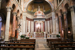 Kerk van St Agnes in Rome Stock Fotografie