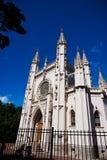 Kerk van St Alexander Nevsky in Alexandria Park De stad PETERSBURG, PETERHOF Royalty-vrije Stock Foto's