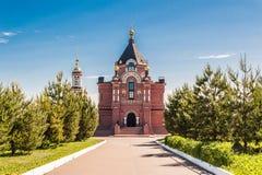 Kerk van St Alexander Nevsky Cathedral op het zuidoostengebied wordt gevestigd van Suzdal die stock afbeelding