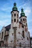 Kerk van St Andrew in Krakau Stock Afbeeldingen