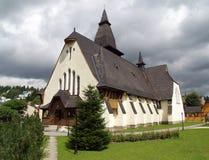 Kerk van St. Anne, Oravska Lesna, Slowakije stock foto