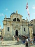 Kerk van St Blaise in oude stad van Dubrovnik, Kroatië Stock Afbeeldingen