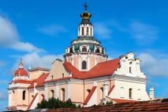Kerk van St Casimir in Vilnius, Litouwen royalty-vrije stock foto's
