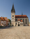 Kerk van st. Egidius in bardejov Royalty-vrije Stock Afbeelding
