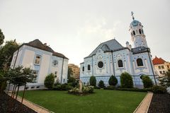 Kerk van St Elisabeth, Blauwe Kerk, Bratislava, Slowakije stock afbeeldingen