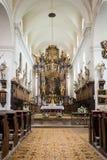 Kerk van St Jacob Ouder in Zbraslav, Tsjechische Republiek Royalty-vrije Stock Foto