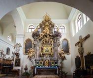 Kerk van St Jacob Ouder in Zbraslav, Tsjechische Republiek Royalty-vrije Stock Fotografie