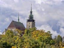 Kerk van St James in de Tsjechische Republiek van Jihlava Stock Foto