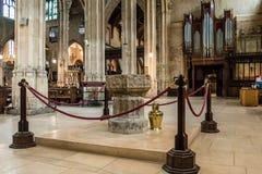 Kerk van St John Baptist Font A royalty-vrije stock fotografie