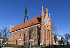 Kerk van St John, Neubrandenburg, Mecklenburg Westelijke Pomerani Royalty-vrije Stock Afbeelding