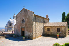 Kerk van St. Maria della Neve. Montefiascone. Lazio. Italië. Royalty-vrije Stock Foto's