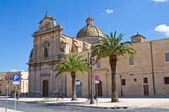 Kerk van St. Maria di Costantinopoli. Manduria. Puglia. Italië. royalty-vrije stock fotografie