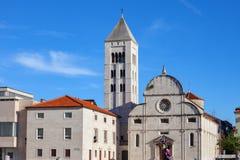 Kerk van St Mary Benedictine Monastery in Zadar stock foto