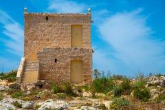 Kerk van St Mary Magdalen, Malta stock afbeelding