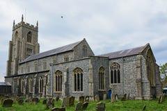 Kerk van St Mary North Elmham, Norfolk, het UK royalty-vrije stock afbeeldingen