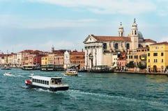 Kerk van St Mary van de Rozentuin in Venetië Stock Foto's