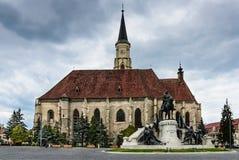 Kerk van St Michael, Cluj Napoca in Roemenië royalty-vrije stock afbeeldingen