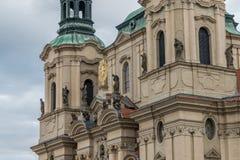 Kerk van st Nicolaus stock afbeelding