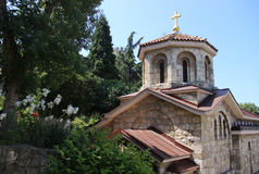 Kerk van St Petka in Kalemegdan stock afbeelding