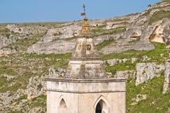 Kerk van St Pietro Caveoso Matera Basilicata Italië royalty-vrije stock fotografie