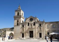 Kerk van St Pietro Caveoso in Matera, Italië royalty-vrije stock foto