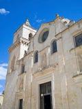 Kerk van St. Pietro Caveoso. Sassi van Matera. stock afbeelding